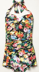 Anthropologie Seafolly Summer Garden Boyleg Maillot