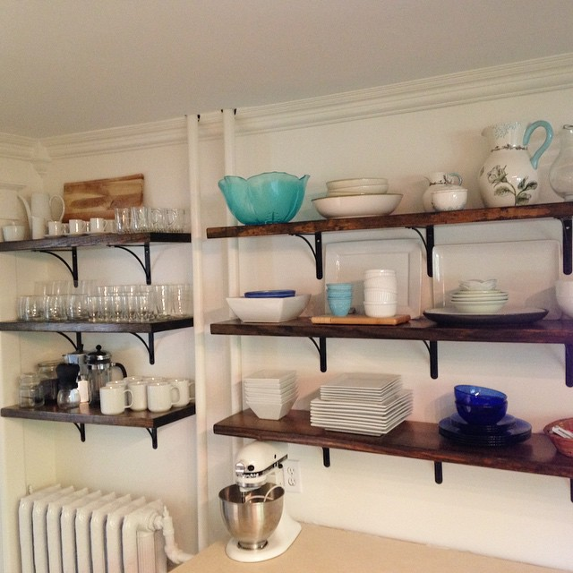 Open Kitchen Shelving