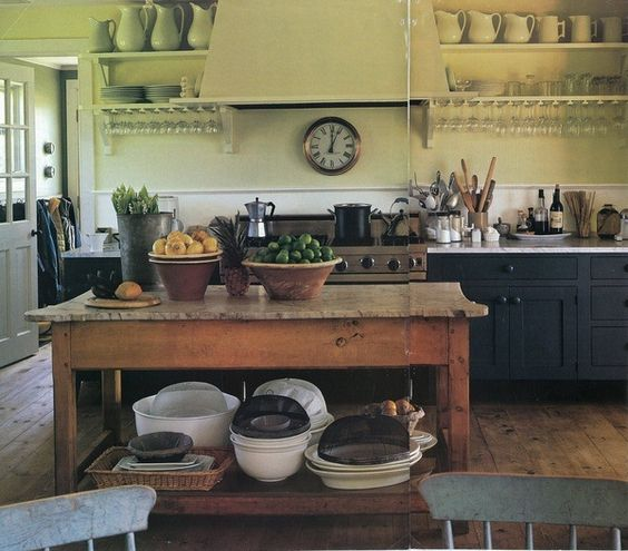 Roundup: 27 Vintage Table Kitchen Islands