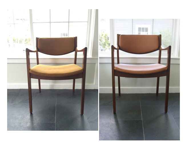 Mid-Century Chair: Before and After