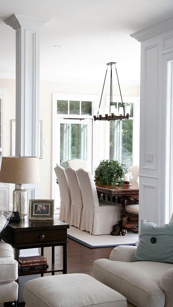 parsons chairs with rustic table 1