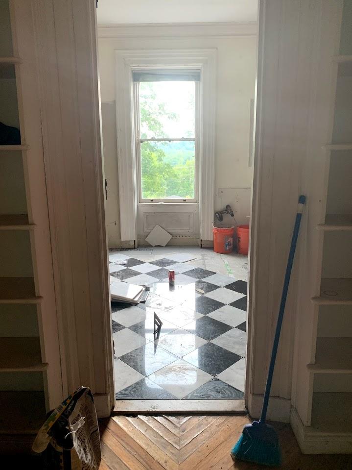 Finishing the UpstairsBathroom