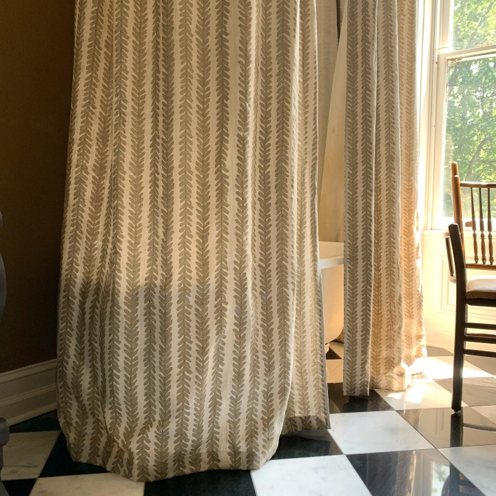 How to Make a Custom Full Length Shower Curtain